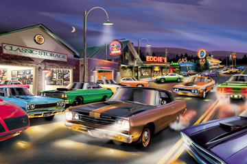 www AmericanAutoArt com 1965 - 1974 Mopar B-Body Artwork Prints By