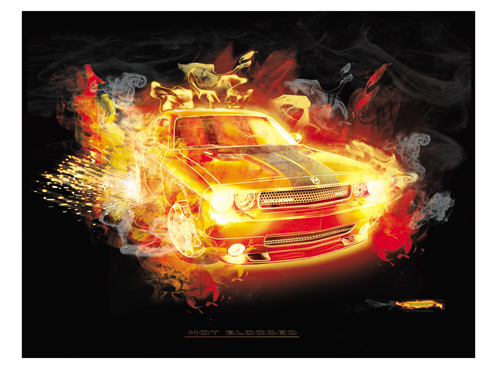 High Quality 16x20   Challenger Fire Print